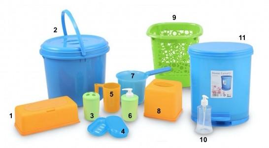 Perlengkapan Kamar Mandi ONYX Plastik