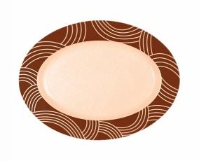 "12"" Espresso Oval Plate"