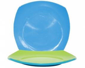 """9"""" Bicolor Square Plate"""