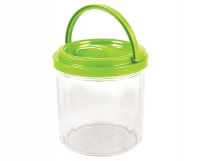 Large Round Canister with Handle 1.3 Lt