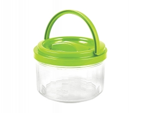 Small Round Canister with Handle 1.3 Lt