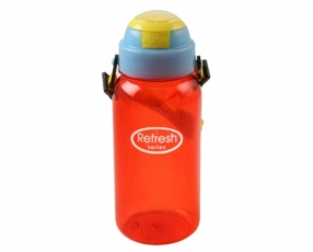 Large Multicolor Refresh Water Bottle with Strap 500 ml