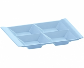 "9.3"" 4 Tray Condiment Dish"