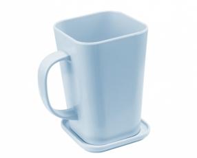 Mug Kotak dengan Tutup 600 ml