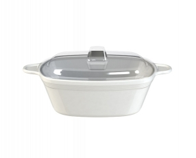 "5.5"" Quatro Casserole Bowl with Clear Cover"