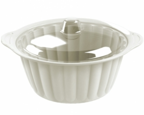 "10"" Round Sevilla Casserole with Clear Cover"