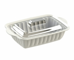 "8.5"" Rectangle Sevilla Casserole with Clear Cover"