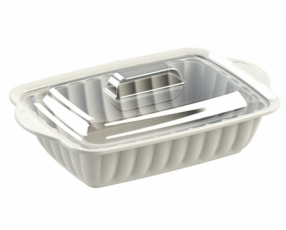 "12.5"" Rectangle Sevilla Casserole with Clear Cover"