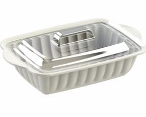 "14.0"" Rectangle Sevilla Casserole with Clear Cover"