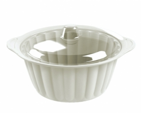 "8.5"" Round Sevilla Casserole with Clear Cover"