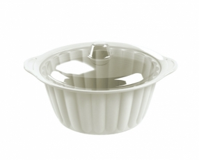 "7.5"" Round Sevilla Casserole with Clear Cover"