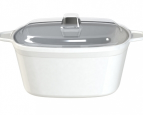 "8.5"" Quatro Casserole Bowl with Clear Cover"